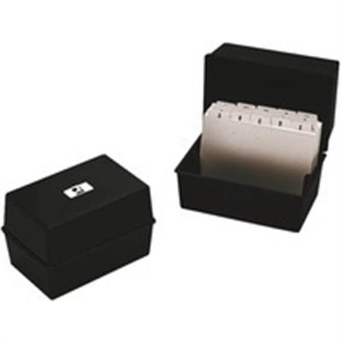Q-Connect Card Index Box 8x5 Black
