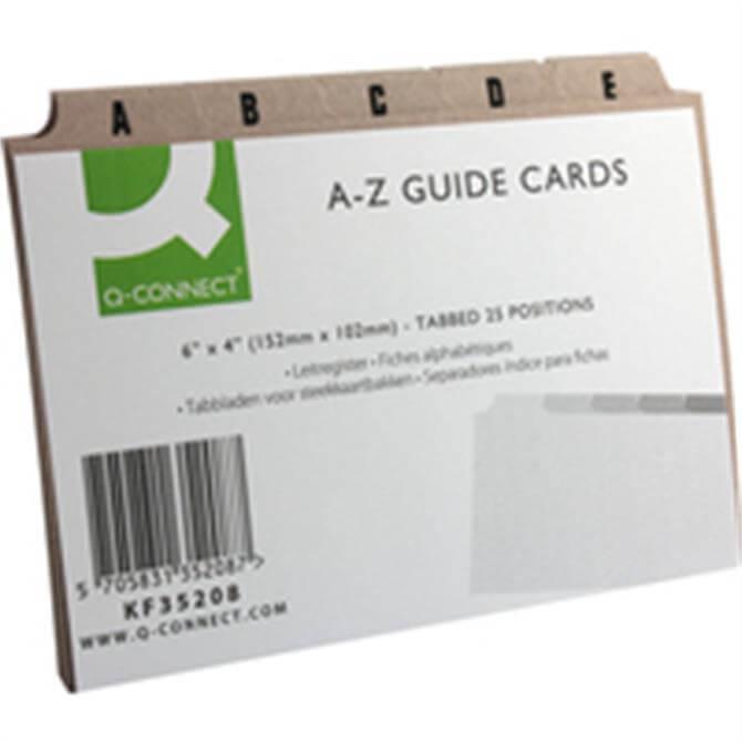 Q-Connect Guide Card 6x4 A-Z Buff