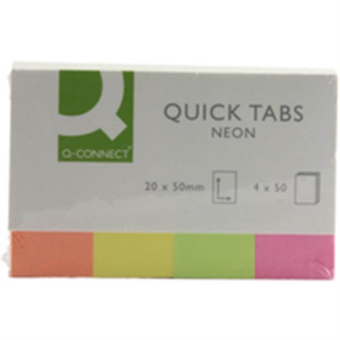 Q-Connect Quick Tabs Neon
