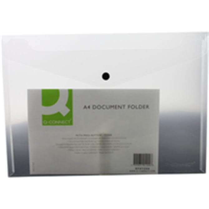 Q-Connect Document Folder Plastic A4 Clear