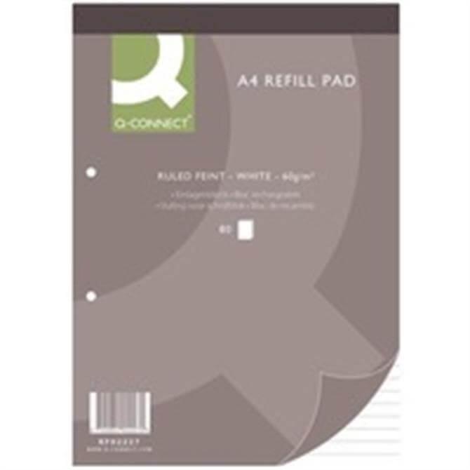 Q-Connect Refill Pad A4 Feint 80Leaf