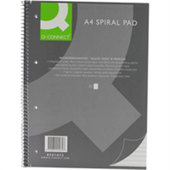 Q-Connect Spiral Pad Exec A4 80Sht