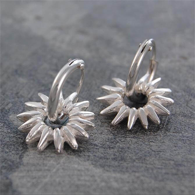 Otis Jaxon Sunray Silver Hoop Earrings
