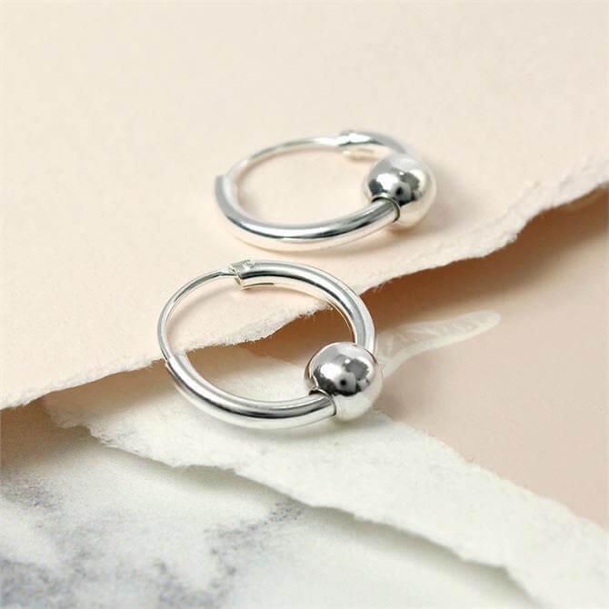 Peace of Mind Sterling Silver Hoop & Ball Earrings