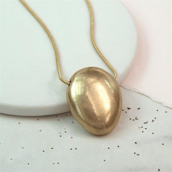 Peace of Mind Worn Pebble Necklace