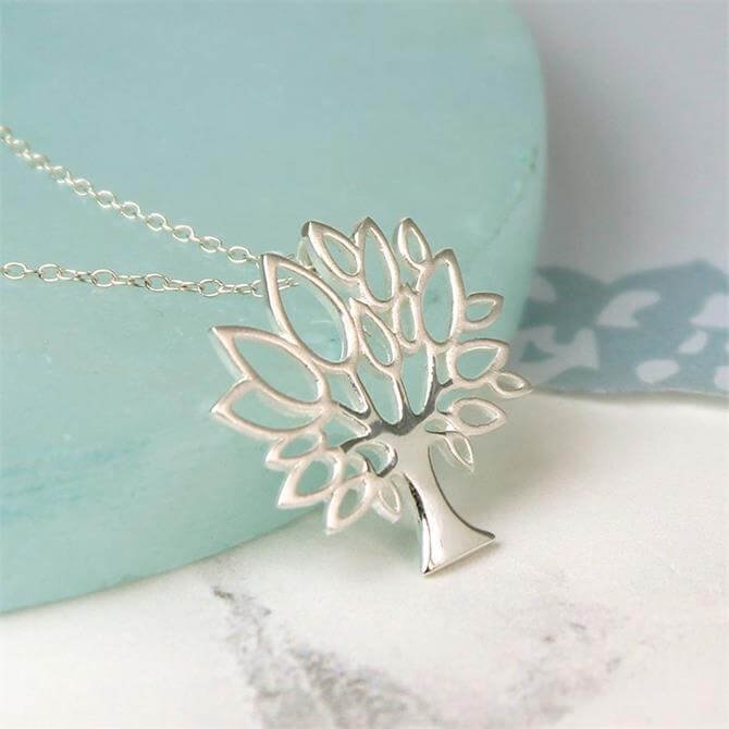 Peace of Mind Sterling Silver Tree Necklace