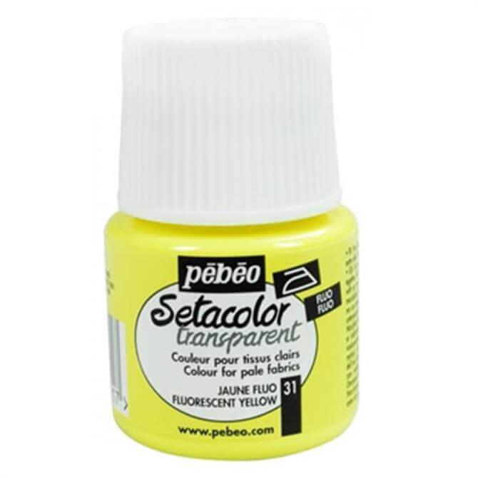 Pebeo Setacolour Transparent Fluro Fabric Paint
