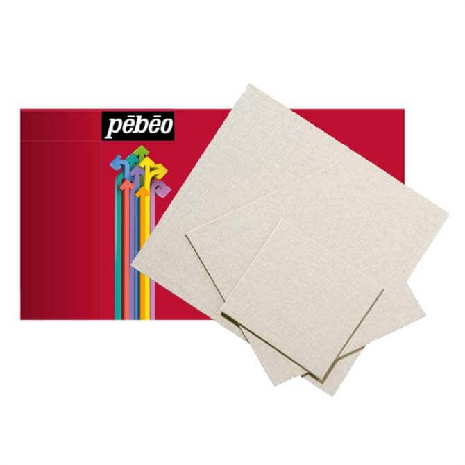 Pebeo Natural Linen Canvas Board - Assorted