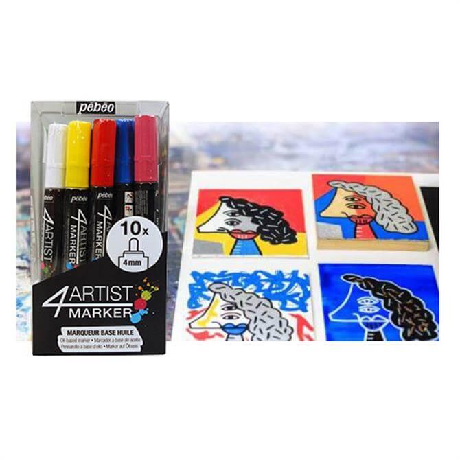 Pebeo 4 Artist Marker 10 Set