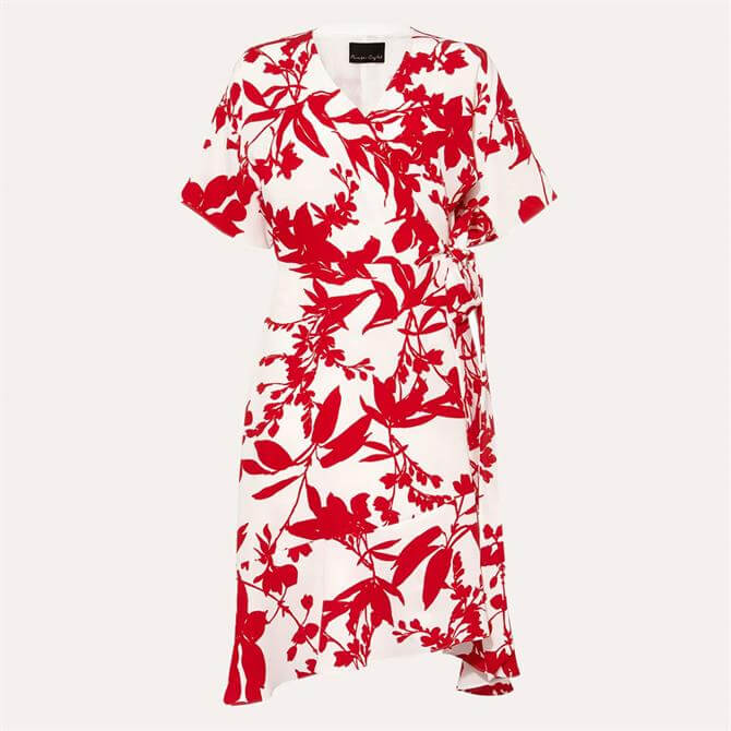 Phase Eight Celestine Dress Ivory Carmine