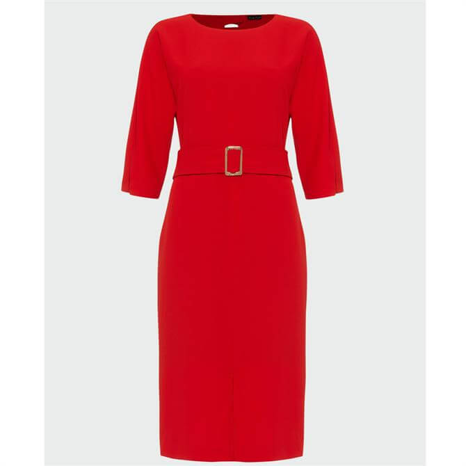 Phase Eight Cristabel Red Belted Dress