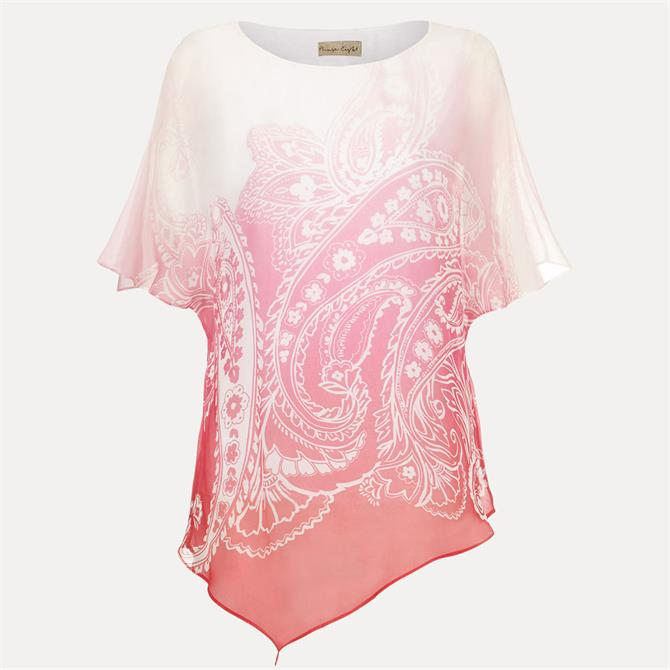 Phase Eight Paisley Silk Blouse Pink