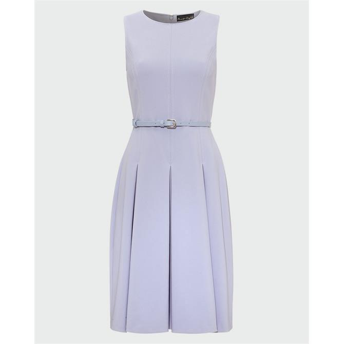 Phase Eight Elidah Belted Dusty Blue Dress