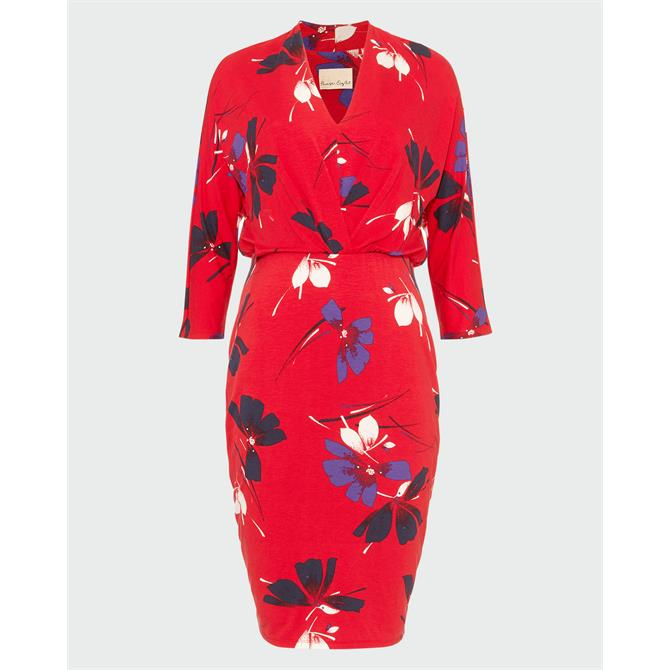 Phase Eight Harper Red Floral Dress