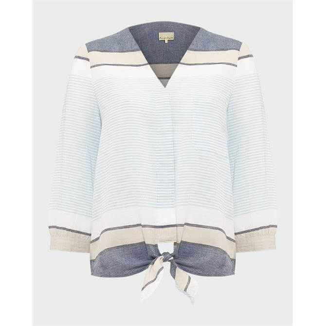Phase Eight Isidora Stripe Tie Front Blouse