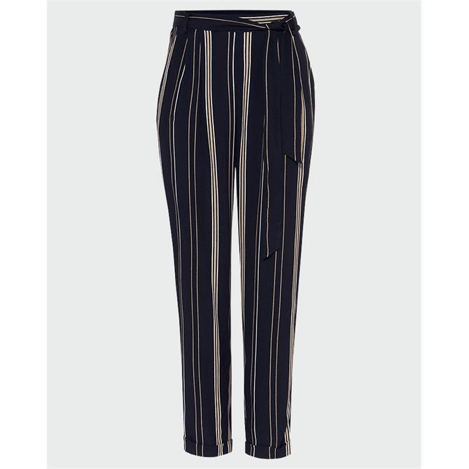 Phase Eight Keiko Stripe Trousers With Waist Tie