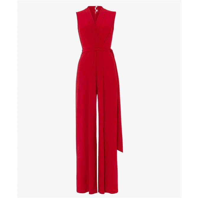 Phase Eight Tia Wide Leg Jumpsuit Red