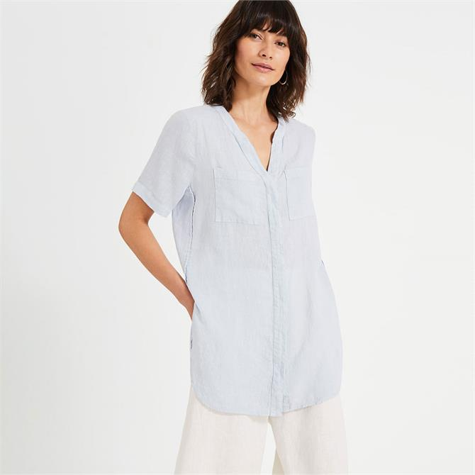 Phase Eight Willow Linen Tunic Top