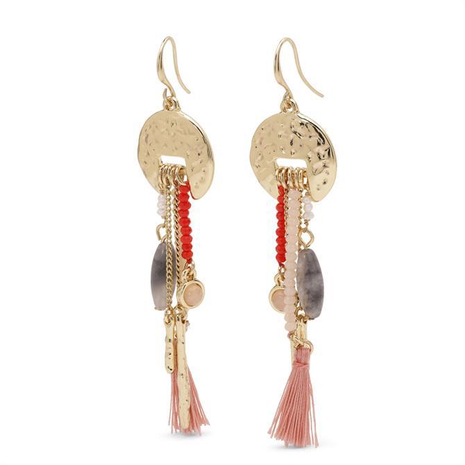 Pilgrim Rumi Multi Tassel Earrings