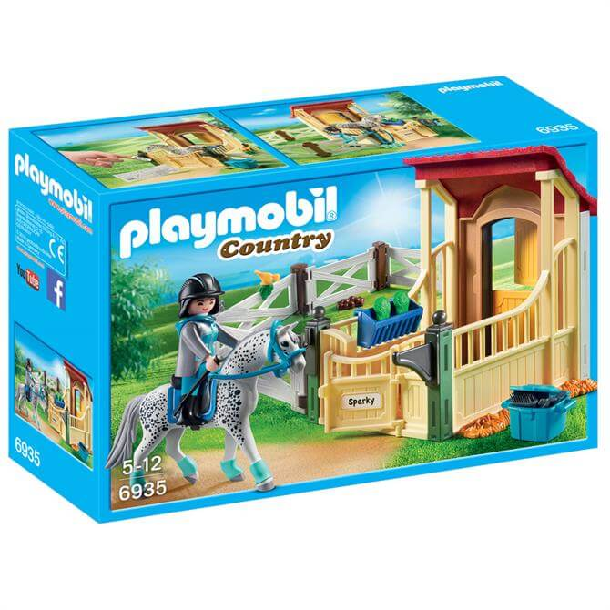Playmobil Horsetable With Appaloosa 6935