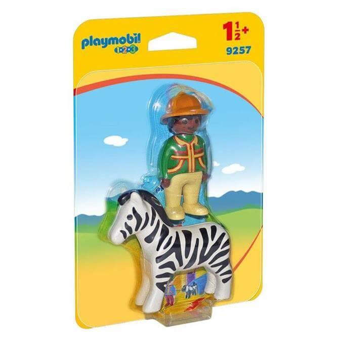 Playmobil Ranger With Zebra 9257