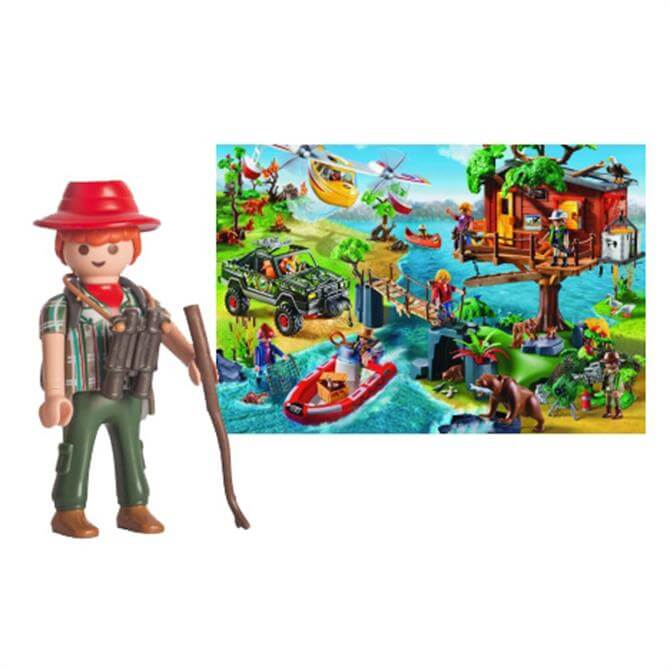 Coiled Spring Games Treehouse 150 Piece Puzzle and Playmobil Figure