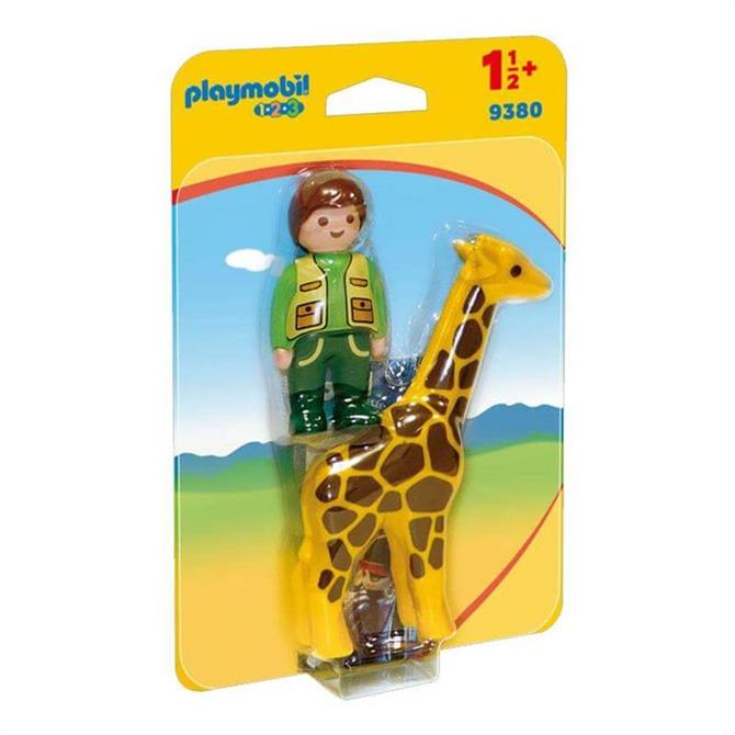 Playmobil 123 Zookeeper with Giraffe 9380