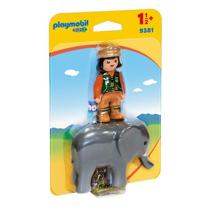 Playmobil 123 Zookeeper with Elephant 9381