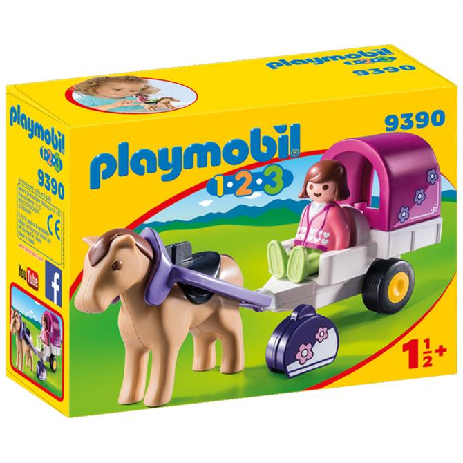 Playmobil 123 Horse-Drawn Carriage 9390