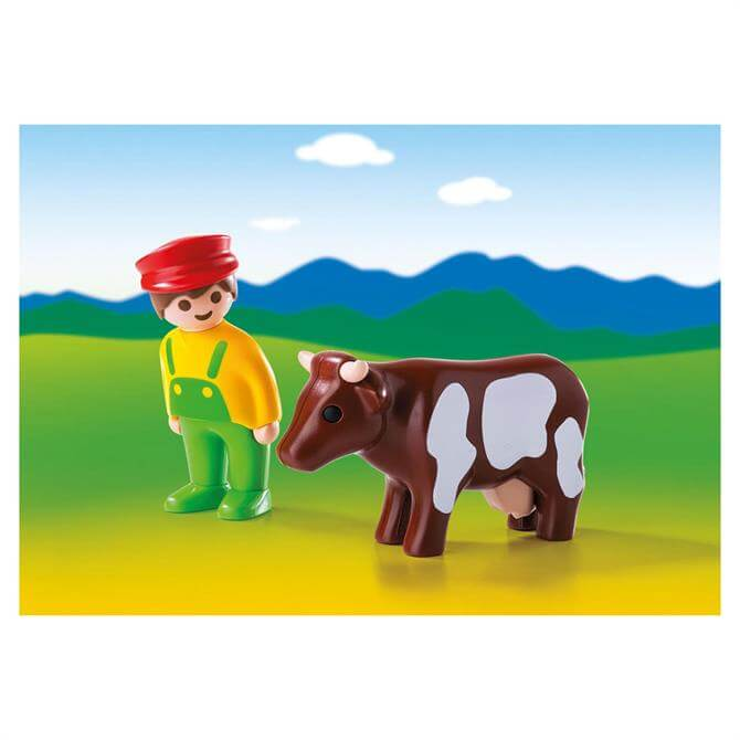 Playmobil 123 Farmer with Cow 6972