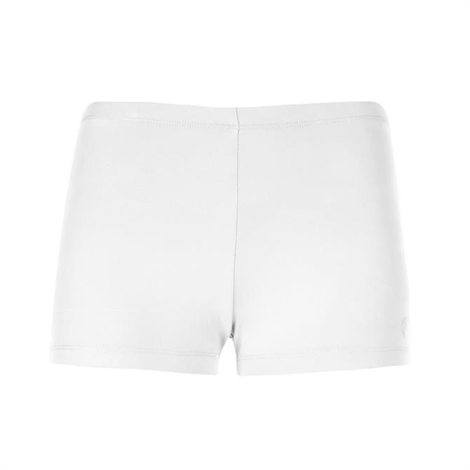 Poivre Blanc Women's Tennis Short S18- White