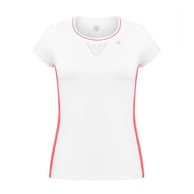 Poivre Blanc Women's Round Neck Short Sleeve Tennis T-Shirt 19