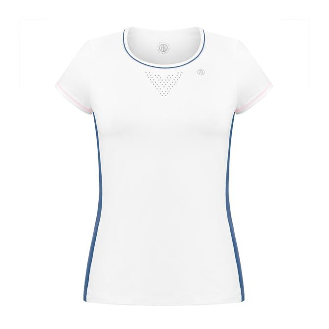 Poivre Blanc Women's Round Neck Short Sleeve Tennis T-Shirt 19