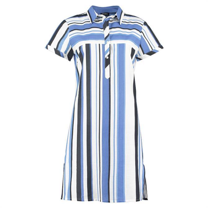 Pomodoro Relaxed Striped Shirt Dress