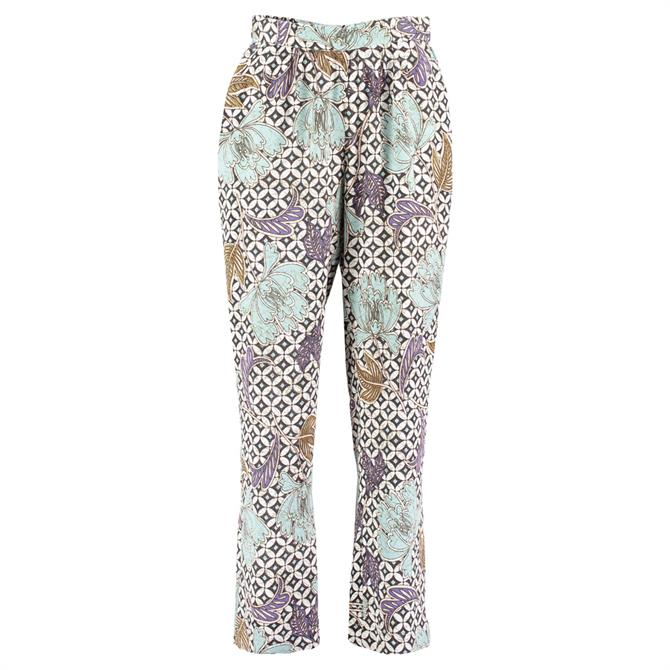 Pomodoro Mixed Floral Print Trousers
