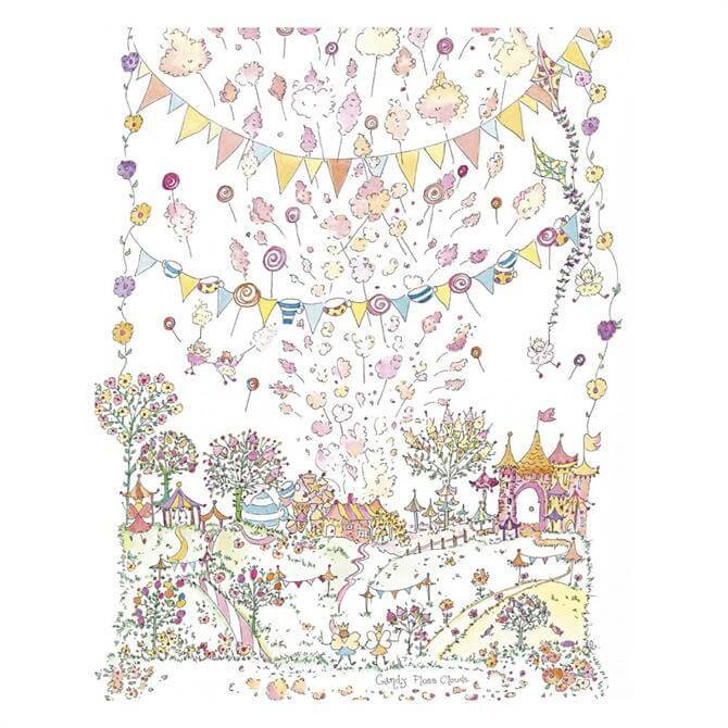 The Porch Fairies Candy Floss Clouds Print