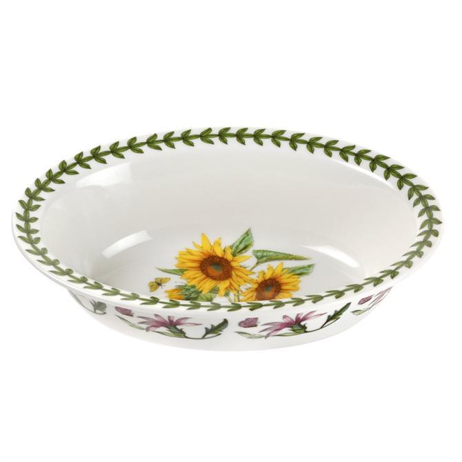Portmeirion Botanic Garden Oval Pie Dish: 20cm