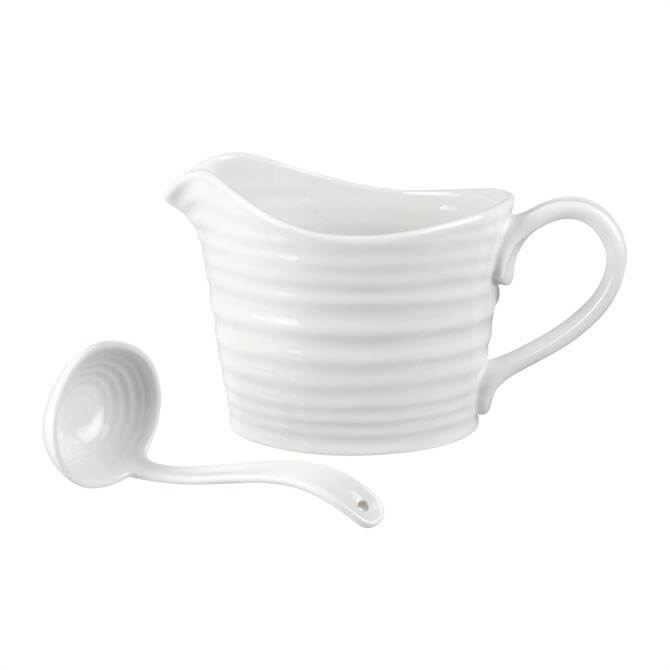 Sophie Conran For Portmeirion White Sauce Jug & Mini Ladle