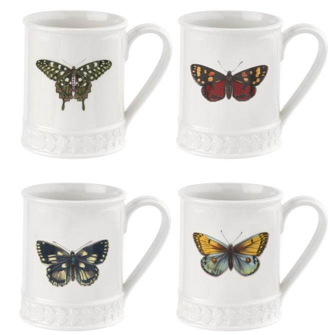 Portmeirion Botanic Garden Harmony Assorted White Tankard with Butterfly