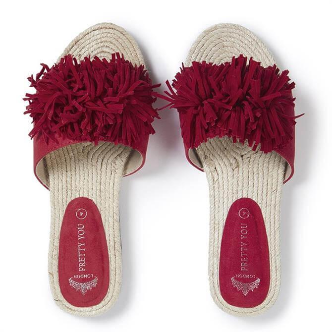 Pretty You London Tassel Sandal