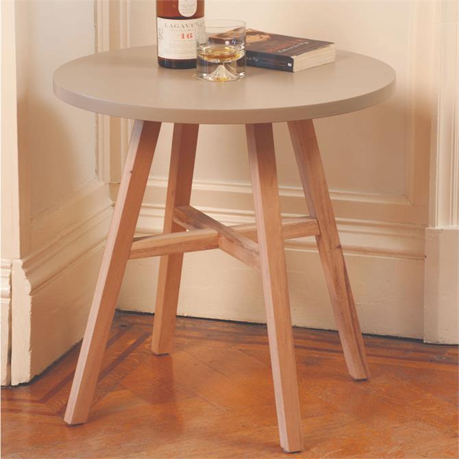 Pavilion Rattan Kinsale Table 60cm Mid Grey