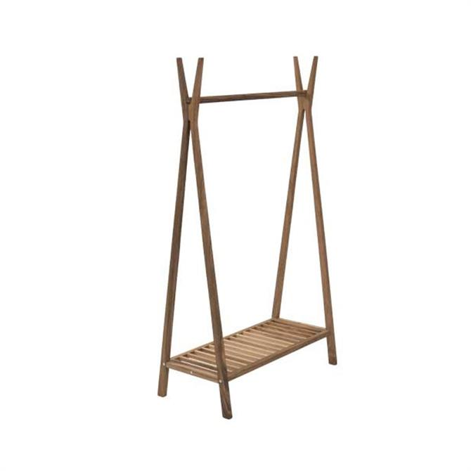 Pavilion Rattan Wooden Wall Totem Clothes and Shoe Rail