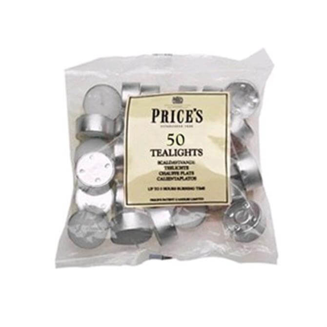 Prices White Tealights - Bag of 50