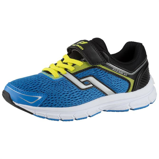 PRO TOUCH Junior Elexir Velcro 7 Running Shoe- Blue