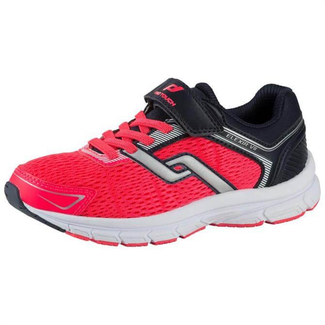 PRO TOUCH Junior Elexir 7 Velcro Running Shoe- Navy/Pink