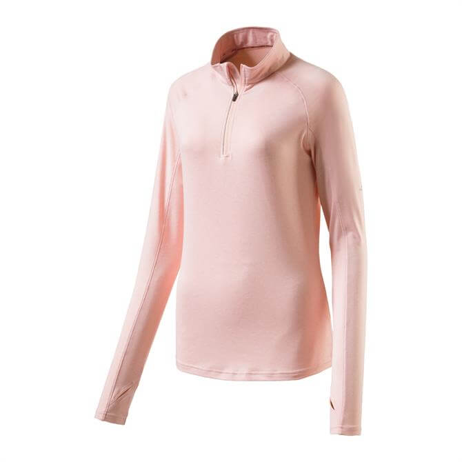 Pro Touch Women's Cusca Long Sleeve Running Top - Melange/Rose