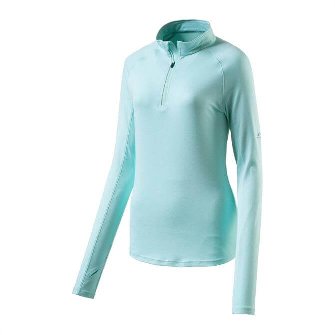 Pro Touch Women's Cusca Long Sleeve Running Zip Top - Turquoise