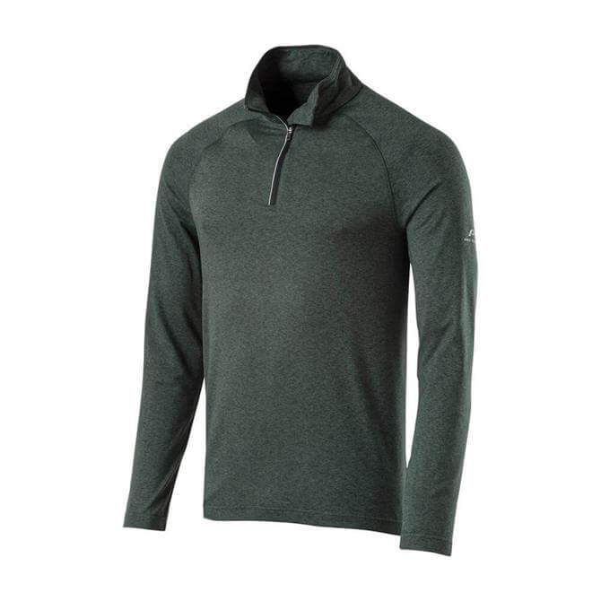 Pro Touch Men's Cusco UX Long Sleeve Running Top - Melange Khaki