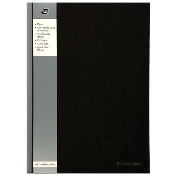 Pukka Black A4 Casebound Notebook