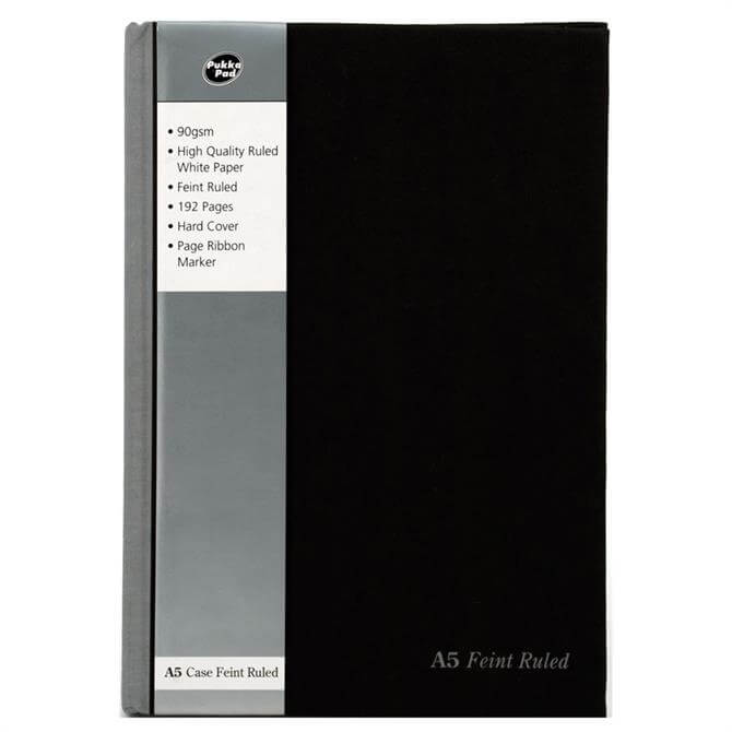 Pukka Black A5 Casebound Notebook